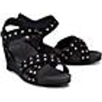 Keil-Sandalette von Ca´Shott in schwarz für Damen. Gr. 37,39,40