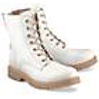 Schnür-Stiefelette von Ca´Shott in weiß für Damen. Gr. 37,38,41