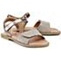 Klett-Sandale von Clic in gold für Mädchen. Gr. 30,31,32,34,35