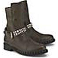 Curiosité, Biker-Boots in khaki, Boots für Damen