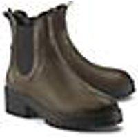 Curiosité, Chelsea-Boots in khaki, Boots für Damen