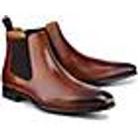 Chelsea-Boots von Ludwig Görtz in braun für Herren. Gr. 42,43,44,45