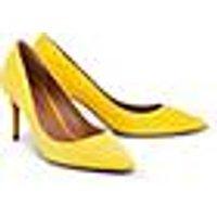 Velours-Pumps von Pura Lopez in gelb für Damen. Gr. 39