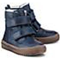 Skør, Winter-Klett-Boots in blau, Halbschuhe für Jungen
