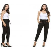High Waist Bowknot Trousers – 3 Colours