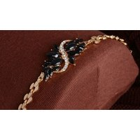 Image of Luxury Glass Leaf Crystal Choker Necklace and Earrings Set 3 Colours