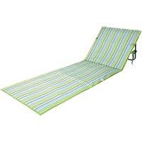 'Green Foldable Sun Lounger Mat