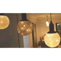 10 x LED Cotton Ball Lights - 2 Colours