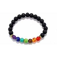 1, 2 Or 4 Lava Stones Chakra Bracelets - 7 Styles