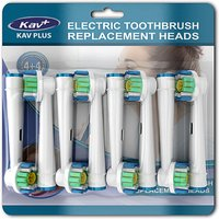 '8-pack Of 3d White Or Cross Action Oral B Compatible Replacement Electric Toothbrush Heads