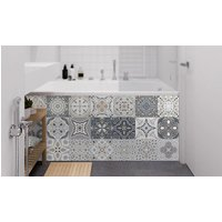 '24-pack Of Wall Or Floor Grey Waterproof Sticker Tiles - 3 Sizes