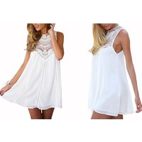 Image of White Lace Summer Dress 4 Sizes