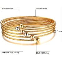 Image of 18K Gold Plated Hand of Fatima Bracelet