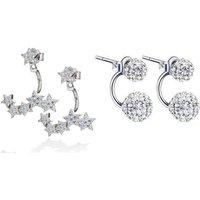 Image of Crystal Buckle Hoop Earrings 1 or 2 Pairs!