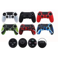 '1 Or 2 Anti-slip Silicone Ps4 Controller Skin Cases - 8 Colours
