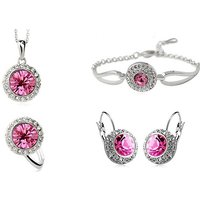 Image of Statement Floral Design Jewellery Set 3 Colours