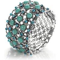 Image of Regal Flower Turquoise Cuff Bracelet