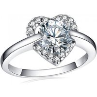 2ct Simulated Sapphire Rhodium-plated Ring - 2 Colours