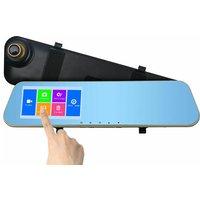 4.3-Inch 1080HD Front & Rear Touchscreen Mirror Dash Cam