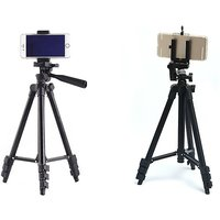 'Camera Tripod With Smartphone Holder & Bluetooth Remote Control