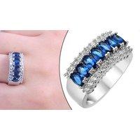 10ct Lab-created Blue Sapphire Jewelley 3-piece Set