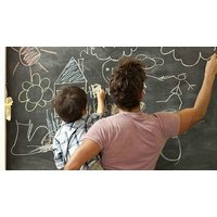 2m Adhesive Blackboard Roll - Reusable!