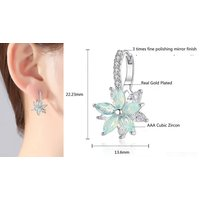 Image of Cute Crystal Flower Earrings 2 Colours