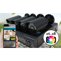 SmartHome Complete CCTV System, App Compatible & Optional 500GB – Use Outdoor and Indoor!