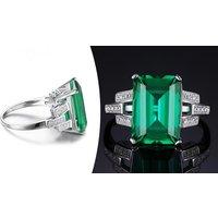 Image of Simulated Emerald Stud Earrings
