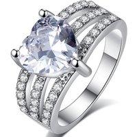 2.3ct Created Sapphire Three Row Ring