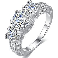 2ct Simulated Sapphire & Crystal Ring - 4 Sizes