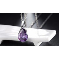 Image of Boho Simulated Crystal Water Drop Anklets 4 Colours
