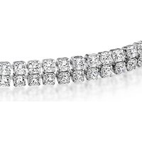 Image of 18K White Gold Plated Tennis Bracelet with Clear CZ Crystals