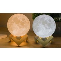 'Touch Control Led 3d Moon Lamp - 3 Sizes