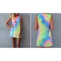 Image of Off Shoulder Summer T Shirt Dress 4 Sizes