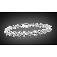18k White Gold Plated Overlay Bracelet