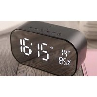 '3-in-1 Led Mirror Alarm Clock With Bluetooth Speakers - 4 Colours