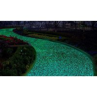 'Hundreds Of Solar Powered Glow-in-the-dark Garden Pebbles - 6 Colours