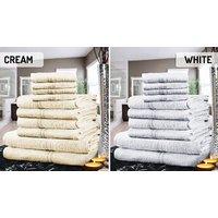 100% Egyptian Cotton Towel Set - 10 or 20 Pieces, 8 Colours