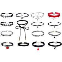 Image of Retro Stretch Choker Necklace 10 Colours