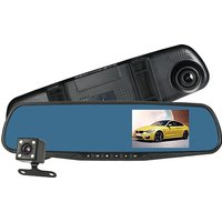 Imagem de 1080P HD LCD Dual Mirror Dash Cam