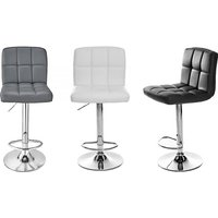 Set of 2 Faux Leather Cube Bar Stools - 3 Colours