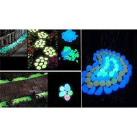 'Hundreds Of Solar Powered Glow-in-the-dark Garden Pebbles - 3 Colours