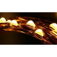 100 or 200-LED Waterproof Solar String Lights - 7 Colours