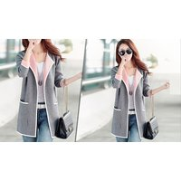 Two-Tone Blazer Jacket in Pink or Grey – 4 Sizes