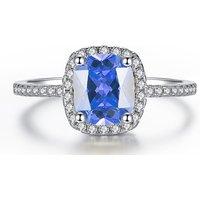 Imagem de 1.67ct Rhodium Plated Simulated Sapphire Ring 3 Colours