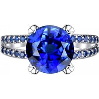 2.33ct Blue Simulated Sapphire Double Ring + Free Earrings!