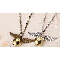 Image of Vintage Style Winged Heart Necklace 1 or 2