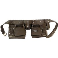 Rolson 10-Pocket Professional Tanned Leather Tool Belt