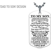 'To My Son' And 'To My Daughter' Necklace – 4 Designs